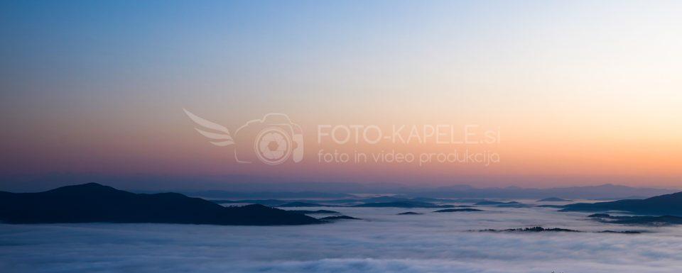 Kočevsko, v ozadju Mala gora: foto-kapele.si